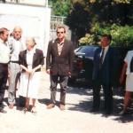 Les élus accompagne Geneviève de Gaulle au quartier de Pomier