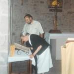 Quelle joie sincère quand elle a découvert le registre de catholicité ouvert à la page de l'acte de son baptême !