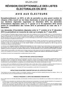 © Service Élections - Mairie