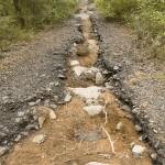 Ravinement du chemin de contournement du mas de Valz