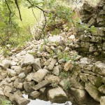 Soutènement du chemin de contournement du mas de Valz