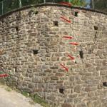 Fissures sur le mur de soutènement du parc intergénérationnel