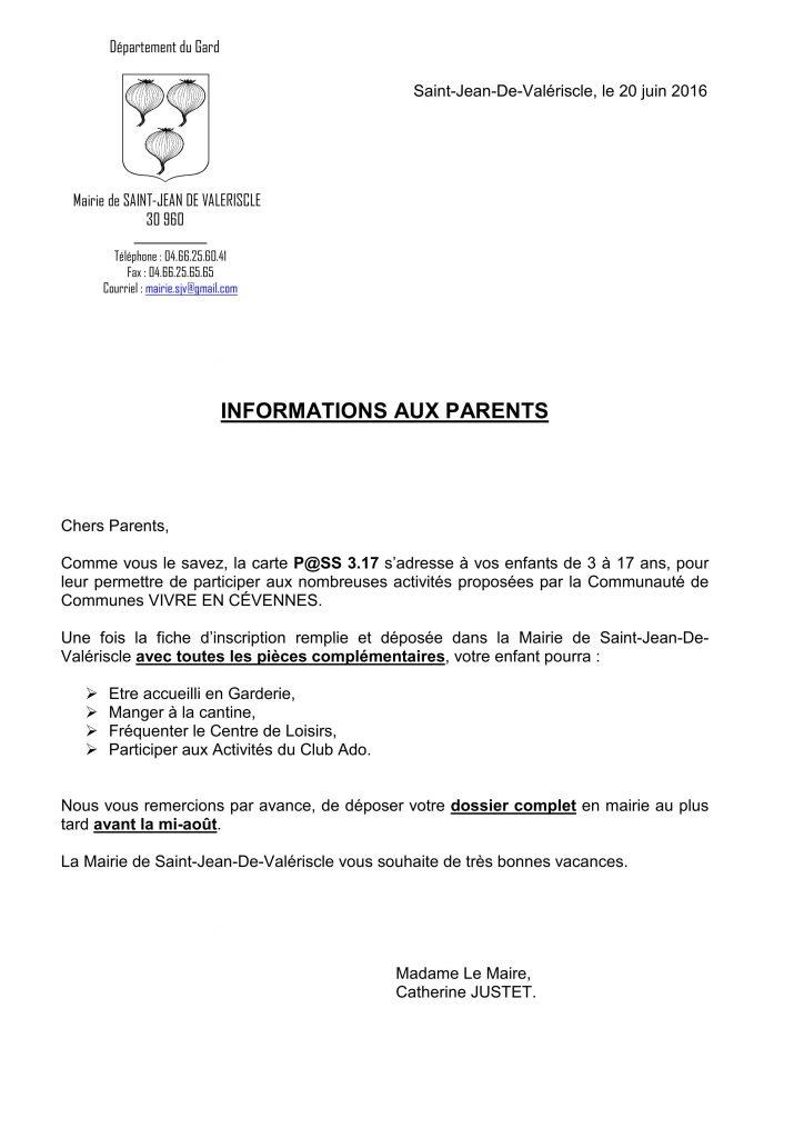 Lettre aux parents Carte P@SS 3.17 20-06-2016_01