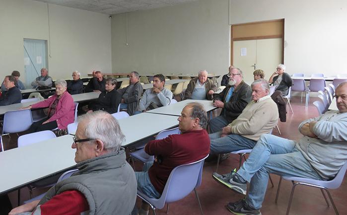Les oléiculteurs s'étaient déplacés nombreux pour assister à cette réunion préparatoire