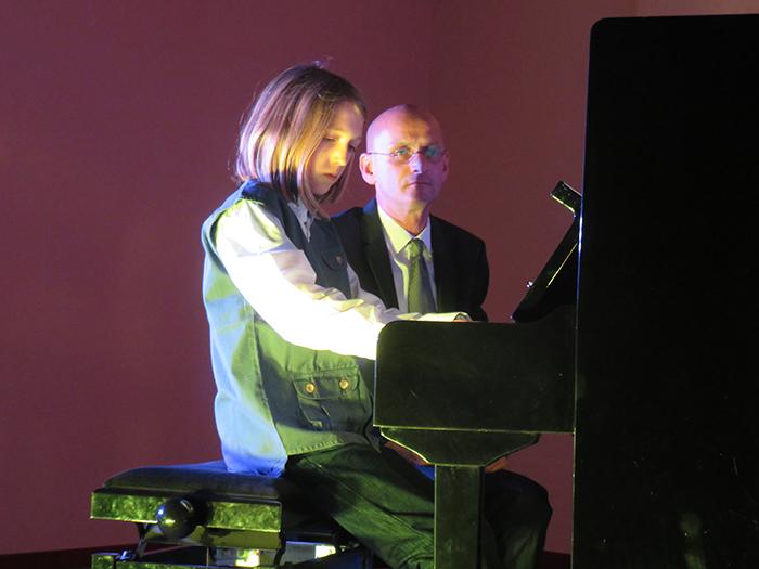 Séraphin Motte, de St jean a même interprété un morceau de sa composition.