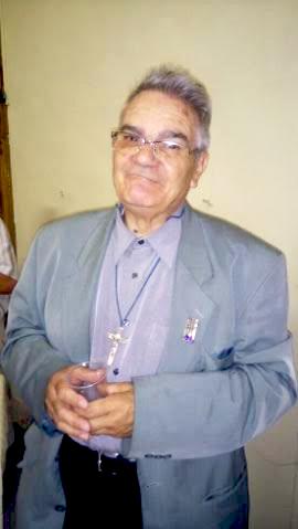Le père Pitzalis lors de son jubilé de 45 ans de sacerdoce