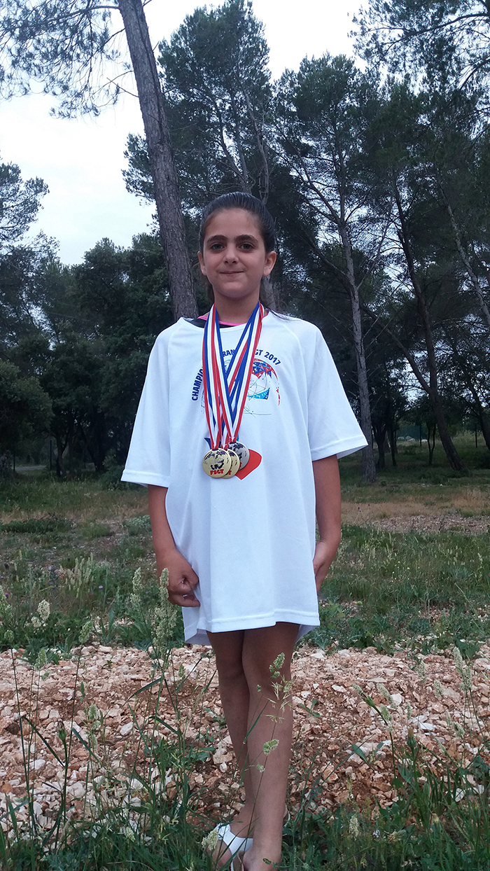 Belle moisson de médailles pour notre gymnaste en herbe
