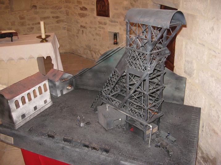 Vous pourrez aussi admirer la maquette du puits N° 4 de St Jean