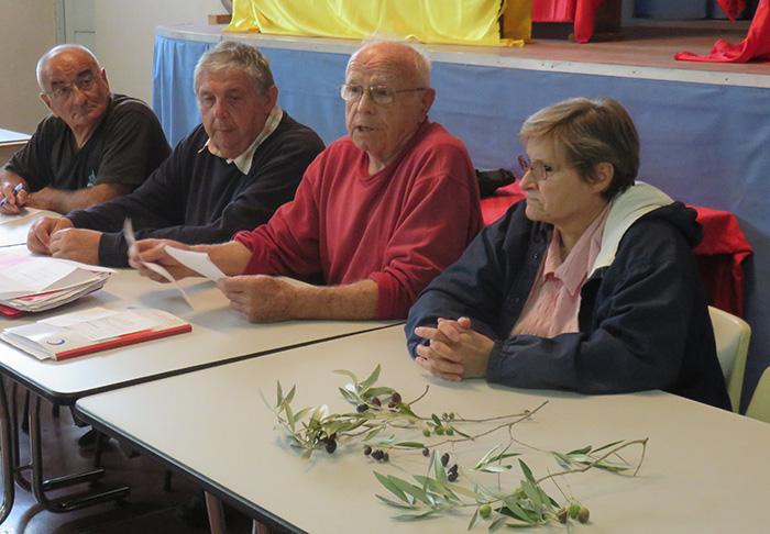Edgard Boyac, président, entouré de quelques administrateurs, a présenté la future campagne