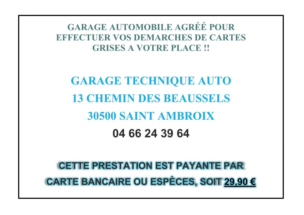 Saint jean de valeriscle site officiel for Garage pour carte grise