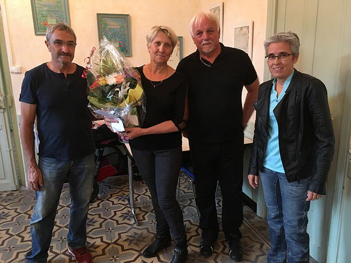 Martine et Gérard son époux ont été honorés par la municipalité