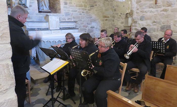 l'Harmonie des mineurs a animé la messe