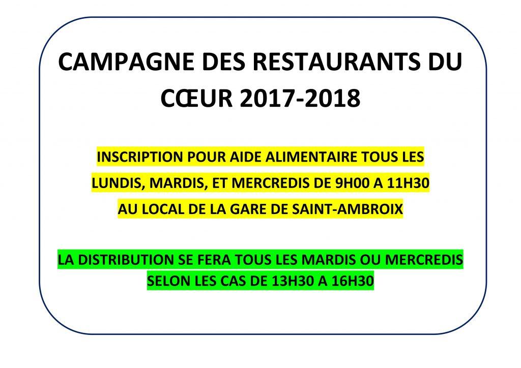CAMPAGNE DES RESTAURANTS DU CŒUR 2017_01