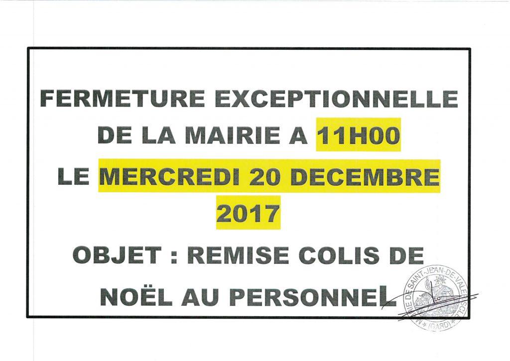 FERMETURE EXCEPTIONNELLE MAIRIE LE MERCREDI 20 DECEMBRE 2017 A 11h00_01