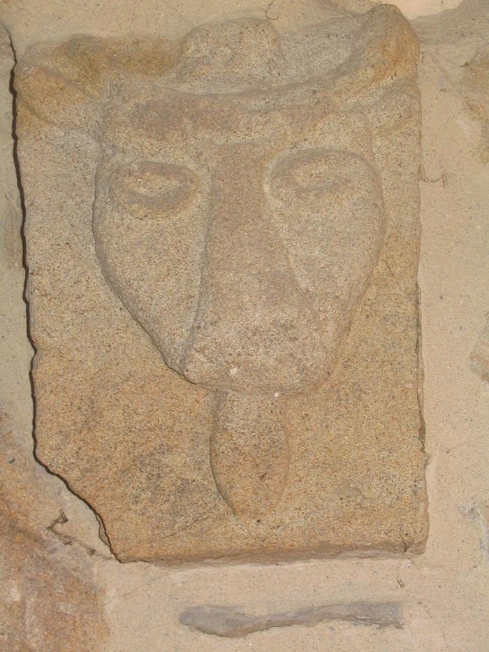 Bucrane : Tête de taureau du culte de Mythra pratiqué par les légionaires romains