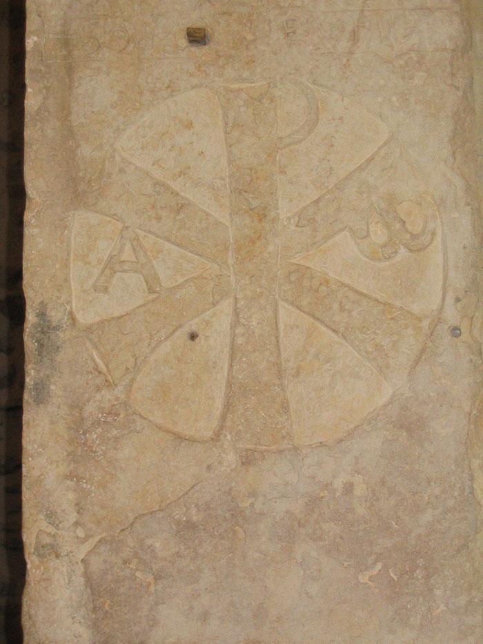 Chrisme de l'Empereur romain Constantin, datant du 4e siècle