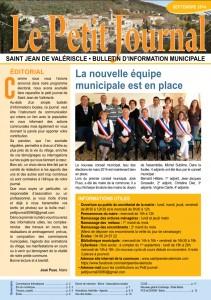 PETIT JOURNAL – EDITION SEPTEMBRE 2014