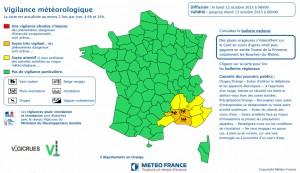 VIGILANCE ORANGE DE MÉTÉO FRANCE POUR LE GARD