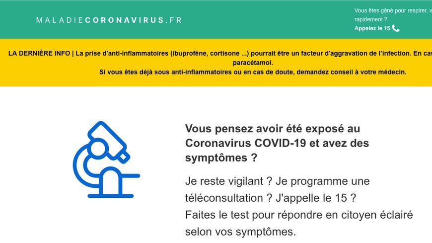 Coronavirus : un test en ligne pour vous aider à détecter la maladie