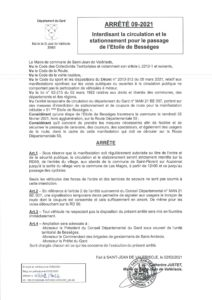 Etoile de Bessèges: circulation et stationnement interdit à Saint Jean le vendredi 12 février