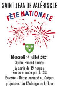 Fête nationale ce mercredi 14 juillet
