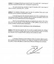 DATE DES ÉLECTIONS MUNICIPALES PARTIELLES