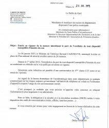 COMMUNIQUÉ DE LA PRÉFECTURE – INTERDICTION DU PORT DE L'OREILLETTE