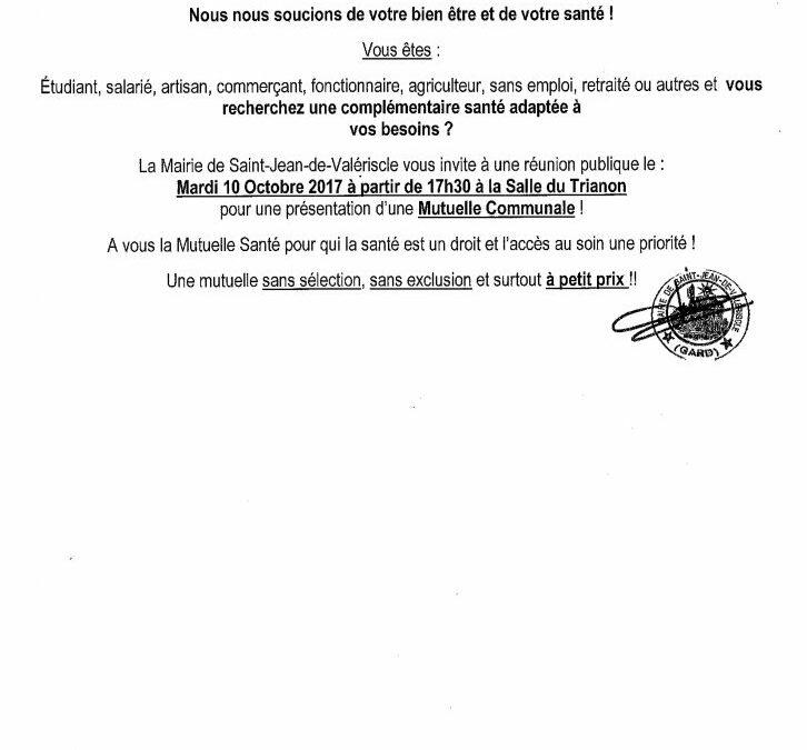 RÉUNION DE PRÉSENTATION D'UNE MUTUELLE COMMUNALE