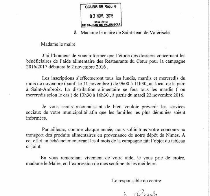 CAMPAGNE AIDE ALIMENTAIRE RESTAURANTS DU COEUR