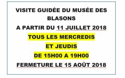 OUVERTURE MUSÉE DES BLASONS